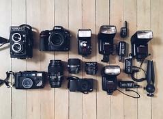 2017 gear (RyanLebel) Tags: nikon yashica voigtlander 20mm 105mm 50mm aw af l35 medium format 124g film skateboard photography setup ricoh gr fisheye 16mm sb25 sb26 sb80dx cybersync