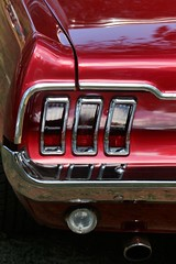 Mustang (qorp38) Tags: car show mustang red classic tail lights