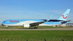 G-OBYE (AnDyMHoLdEn) Tags: tui thomson 767 egcc airport manchester manchesterairport 23l