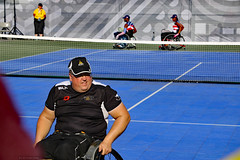 Wheelchair Tennis New Zealand vs USA (Can Pac Swire) Tags: toronto ontario canada canadian invictus games 2017 city hall nathanphillipssquare wheelchair tennis competition fan fans supporter supporters spectator spectators competitor competitors volunteer volunteers team nz kiwi newzealand usa unitedstates 2017aimg3179 man men guy guys sport