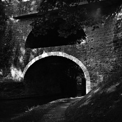 Double Arched Bridge (Squatbetty) Tags: leedsliverpoolcanal eastmarton pennineway doublearchedbridge film scan scannedfilm lubi lubitel166b ilfordfilm