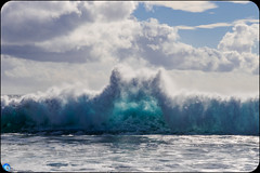 The Entrance (bffpicturesworld) Tags: ocean sea wave beautiful blue cloud wall entrance reunionisland iledelareunion