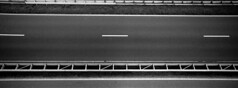 On The Road Again (selyfriday) Tags: selyfriday wwwnassiocomempty nassiocom hasselblad xpan 45mmf4 panorama wide analogue rangefinder 35mm 1271 135 film ilford ilfordhp5 hp5 rodinal 125 20˙c 6minutes netherlands nederland holland dutch road high way afsluitdijk abstract stripes lines