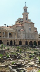 St George's Maronite Cathedral and Archeological Park or Garden of Forgiveness, Beirut (Pjposullivan1) Tags: stgeorgescathedral maronitecathedral maronitecatholic archaeology archeologicalpark gardenofforgiveness