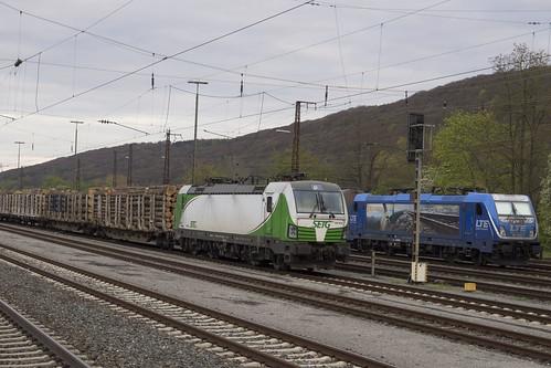 D SETG 193 812+LTE 187 530-3 Gemünden am Main 23-04-2017