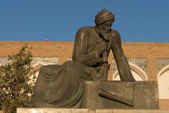 Statue of Muhammad Ibn Muso Al Xorazmiy outside the walls of Khiva. (JohnMawer) Tags: uzbekistan khiva xiva xorazmviloyati uz statue algebra