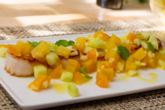 Seared Sea Scallops With Yellow Beets, Cucumbers and Lime (Tom Ipri) Tags: scallops nytimescooking diningin