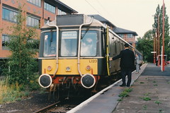 19960811 002 St Albans Abbey. Pressed Steel Class 121 DMBS 55023 Heads The 08.44 To Watford Junction (2) (15038) Tags: railways trains br britishrail diesel dmu class121 pressedsteel stalbansabbey 55023