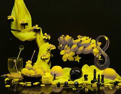 My Life (Chandana Witharanage) Tags: srilanka southasia 7dwf crazytuesdaythemeyellowblack tabletop stilllife freshflowes yellowmandarins limes bananakolikuttu yellowjujubs yellowbuttons decoratedwithyellowstarsstarsandornaments