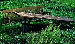Waiting For Better Days - Esperando Mejores Días (Konny ;-))) Tags: tabel bench tisch bank tavolo panchina table bancdejardin mesa bancodejardín bancodejardim