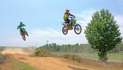 Twofer (Just Joe ( I'm back...sort of )) Tags: motorcycle motorcross sports sky racing