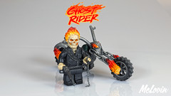 Ghost Rider (Johnny Blaze) (McLovin1309) Tags: custom lego minifigure minifig ghost rider johnny blaze spirit vengeance marvel comic comics mcu bike hellfire superhero sculpt sculpted motorbike