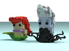 Ariel & Ursula (Front) (monkey5321) Tags: ariel ursula lego brickheadz thelittlemermaid mermaid disney