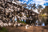 The romance of days gone by (RissaJT_23) Tags: nagambie chinamansbridge canon6d canon2470mm canon canoneos6d country bridge river goulburnriver cherryblossoms blossoms flowers romance history