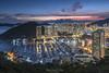 南朗山,Brick Hill,HongKong (TaiNg0415) Tags: 南朗山 hk 香港 nikon 夜景 風景 藍調 樓 大廈 城市 避風塘 海 天際線 天空