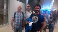 Aitor, Fran y Alex a punto de embarcar hacia Ecuador