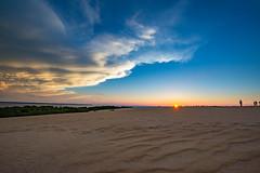 Jokey's Ridge Sunset (1eyephotography) Tags: jokeysridge obx northcarolina carolina sand sunset sun dunes blueskies nikon d610 wideangle