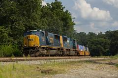 CSX Q126 at Emerson (travisnewman100) Tags: csx train railroad freight intermodal q126 wa emerson subdivision atlanta division emd sd70mac
