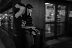 7_DSC9581 (dmitryzhkov) Tags: art city europe russia moscow documentary photojournalism street urban candid life streetlife outdoor streetphotography streetphoto moment light shadow dmitryryzhkov people portrait streetportrait face man sony person stranger couple two lowlight motion walk walker pretty woman women bw bnw black white blackandwhite blacknwhite monochrome blur motionblur movement friend shop store young