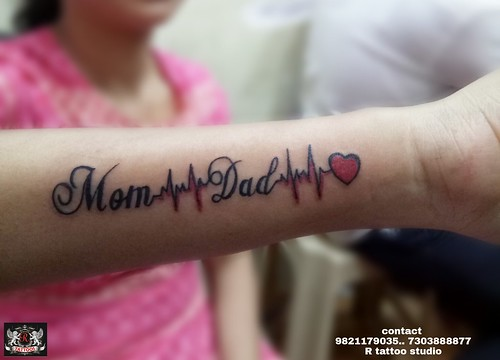 Mom Dad With Heart Bit Tattoo On Hand A Photo On Flickriver