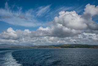Sailing out of Oban
