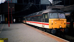 47 in IC Levery at Newcastle (dave hudspeth photography) Tags: trains track railway britishrail nostalga iconic diesel elecric transport davehudspeth class47 class43 class37 hst york newcastle station