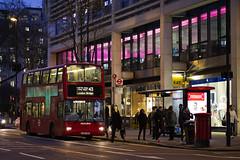 Metroline London VPL636 LK54FWR Route 43 Finsbury Square (TfLbuses) Tags: tfl public transport for london red double decker buses plaxton president volvo b7tl metroline