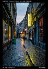 Evening Walks (Falcdragon) Tags: tamron35mmf18sp sonya7riialpha ilce7rm2 liège belgium evening light sunset water wet streetphotography aftertherain