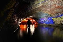 Lurking in the SHADOWS... (JAZ-art) Tags: jazart jaz art storm water drain drains draining urban ur bex urbex underground under below filthy melburn melbourne light paint painting that hooded dude anzac anzacs eels yarra river cave clan tunnel tunnels