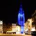 Saint Martin's Church in Blue