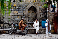 Conversation (Minahil Ahmad) Tags: islamabad saidpur village pakistan on1 onone photos street photography nikon d5500 people men women colors pointed arch stone texture old traditional