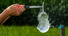 When its just too hot get the water balloons out ! (TrevKerr) Tags: water nikon d3s sb900 nikon85mmf18