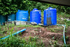View from the Dormitory : Water Tanks 6173 (Ursula in Aus) Tags: banhuaymaegok banhuaymaegokschool hilltribeeducationprojects maehongson maesariang thep thailand