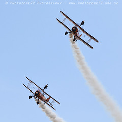1C5A3324 Wingwalkers (photozone72) Tags: scampton airshows aircraft airshow aviation canon canon7dmk2 canon100400f4556lii 7dmk2 breitlingwingwalkers breitling stearman boeing biplane props wingwalkers
