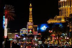 Downtown Las Vegas (K.Yemenjian Photography) Tags: nightshots night vegas canont5i canon700d vehicle colors colorful lights eiffel eiffeltower lasvegasblvd slasvegasblvd downtownlasvegas lasvegas nevada street city strip strips thelasvegasstrip canon t5i 700d placescity