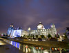 Pier Head at Night (DaveParryphotography) Tags: threegraces cunardbuilding portofliverpoolbuilding pierhead theroyalliverbuilding liverpool merseyside liverpoolwaterfront longexposure nighttime thenight sonyalpha sonya7 sonya7r samyang14mmf28 architecture