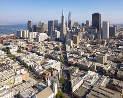 Columbus Avenue, San Francisco (sirgious) Tags: northbeach sanfrancisco columbus skyline drone dji mavicpro