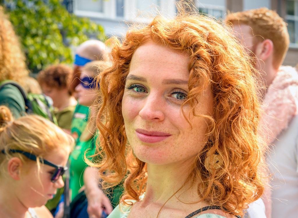 buiten toevallig rood haar