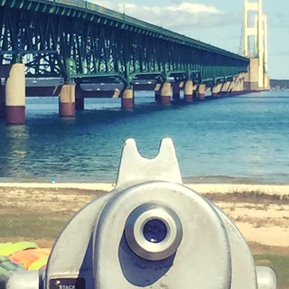 Here's looking at you Mackinac Bridge. Taken from the