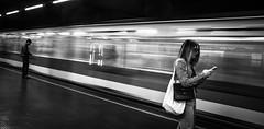 Milano metro (Henka69) Tags: movement motion subway metro people streetphoto milano monochrome streetlevelphoto