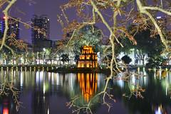 hanoi (Greg Rohan) Tags: nightlights nightphotography nighttime water lake asia vietnam hanoi hoànkiếmlake d7200 2017