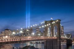 2017 Tribute in Light (60 Water) (RBudhu) Tags: 60waterstreet 911 brooklynbridge cityscape dramatic eastriver fidi financialdistrict groundzero longexposure newyorkcity oneworldtradecenter tributeinlight worldtradecenter