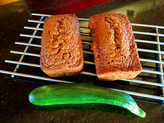 Delicious Zucchini Bread: Homegrown and made here on Bluebird Estates. (peggyhr) Tags: peggyhr zucchini zucchinibread bluebirdestates alberta canada artforkitchendiningroomwall