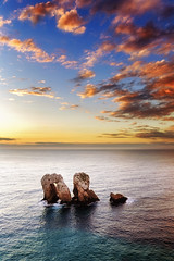Rainbows (Anto Camacho) Tags: sunset clouds sky light atardecer cantabricsea ocean rocks landscape waterscape water spain