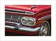 Chevrolet In Red (DJ Wolfman) Tags: red chevrolet classiccars vintage chrome headlight olympus olympusomd em1markii 12100mmf4zuiko zuiko zd micro43 art gilmore car museum