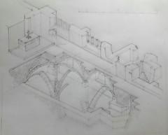 Rothwell Ossuary: Pencil draft