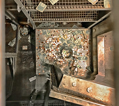 Wishing Well • U.S.S. Cod submarine (SteveMather) Tags: wishing well cash coins coinage paper currency contributions fin fiver bill nonprofit lower deck fleet submarine uss cod gato class diesel electric downtown harbor cleveland ohio memorial tour 2017