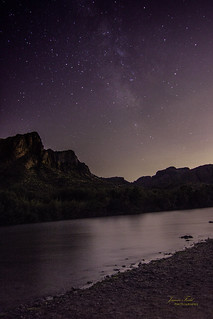 Milky way over the river