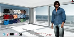 ! A&D Clothing - Shirt -Armand- Wip (Hipster Men) Tags: secondlife secondlifeevent hme hipstermensevent maleevent adclothing maleclothes meshclothes shirt maleoutfit