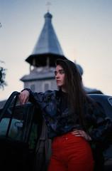 church (Ivan Ovchinnikov) Tags: church portrait girl 90s film filmphotography analog red nikonf4 nikon 50mm nikkor50mmf18d agfa vista canon canoscan mark 9000f select chiile ivanovchinnikov ивановчинников пермь